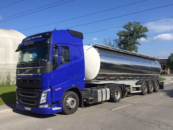 transport of liquid food products